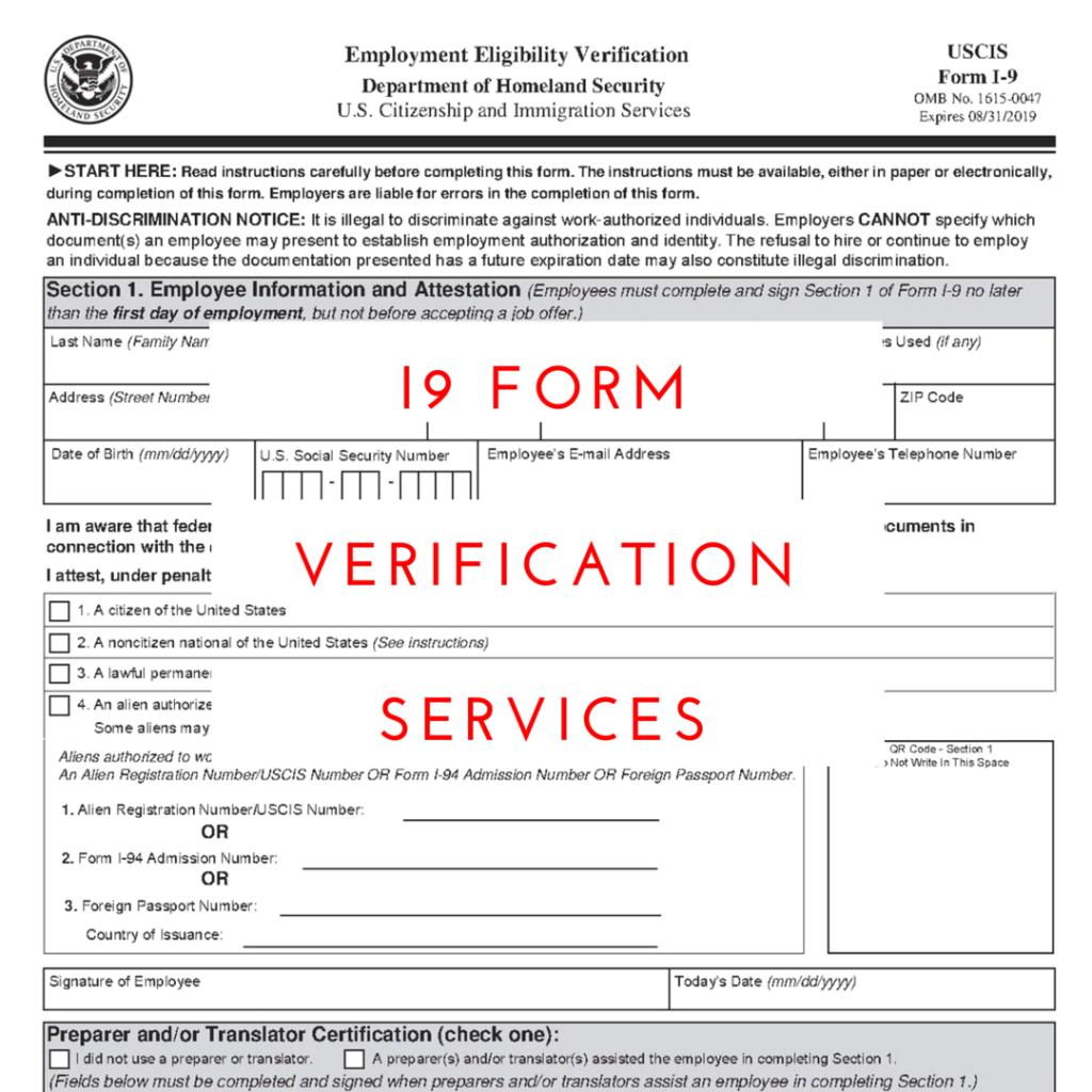 I9 Verification Documents