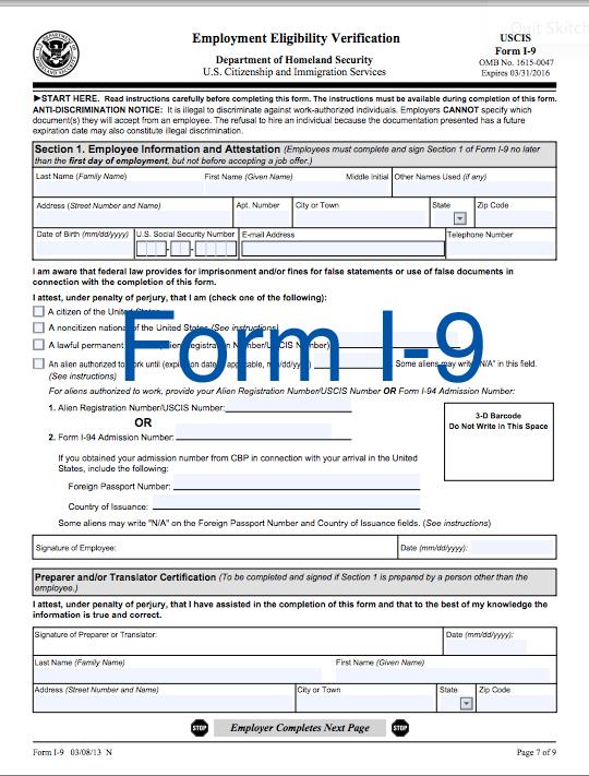 IRS Form I-9